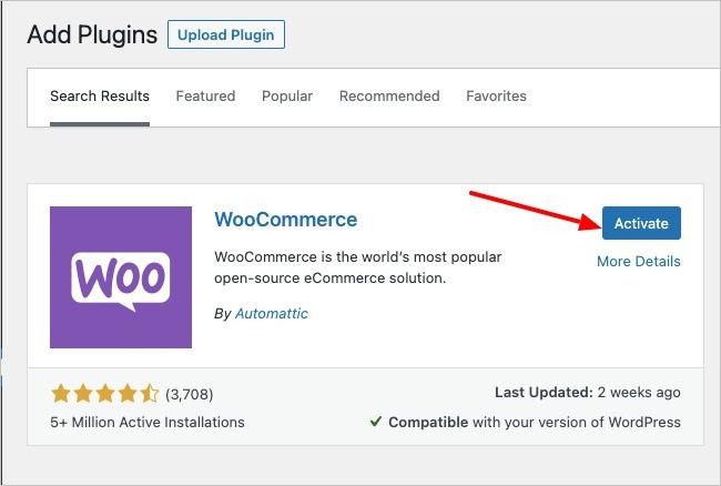 WooCommerce Active