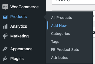 add products in woocommerce