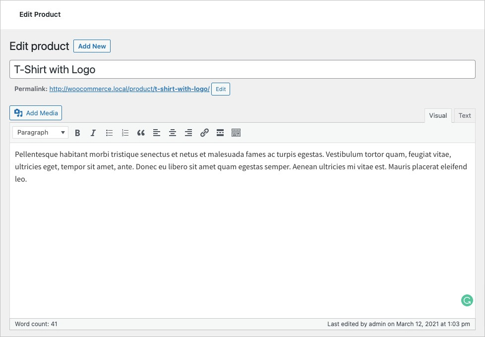 Add Product Title in WooCommerce